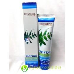 Травяной крем антисептик для бритья Патанджали / Herbal Shaving cream Patanjali 100gr