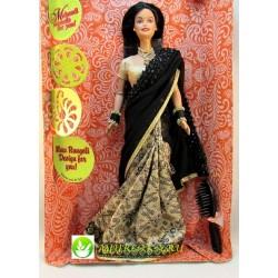 Индийская Барби в вечернем черном сари / Indian Barbie Party Date