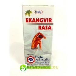 Экангвир Раса Вати - Ekangvir Rasa Unjha Ayurvedic Pharmacy 80 tab