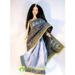 Индийская Принцесса Барби в голубом парчевом сари