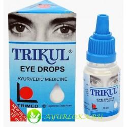 Трикул глазные капли 15мл / Trikul Eye Drops 15ml TRIMED Ph. Haridwar