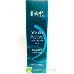 Омолаживающий Крем для Лица /Youth Active Face Cream SPF16 Blackberry &Grapes Jovees