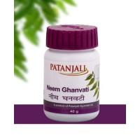 Ним Гханвати таблетки с нимом Патанджали /Neem Ghanvati Patanjali 80 tab